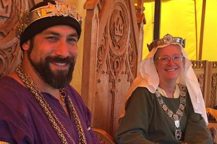 Marc de Arundel and Patricia Blakethorn, King and Queen of the West